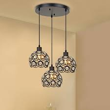 Creative Designs In Lighting Creative Design Modern Glass Crystal Pendant Lights 3 Heads