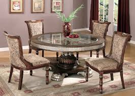Thomasville Living Room Sets Two Tone Traditional 5 Piece Dining Room Set W Clear Glass Inlay