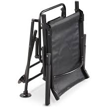 swivel hunting blind chair folds flat for easy storage