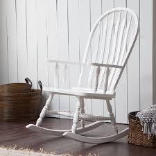 white wooden rocking chair99 white