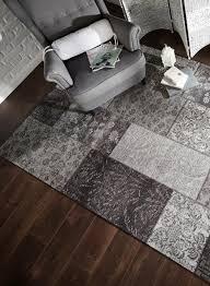 manhattan patchwork chenille black grey
