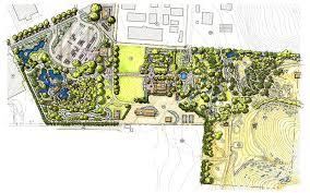 pen and marker drawing masterplan of the idaho botanical garden