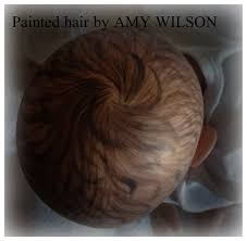 here are just a few of the hair styles i ve created with paint and ums painted reborn hair