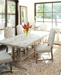 white distressed table antique dining