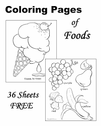 Small Picture Coloring Sheets of Food