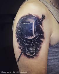 татуировка на плече череп в цилиндре тату сделана по уж Flickr
