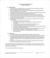 Dismissal Policy Template Termination Notice Template 9 Free Word ...
