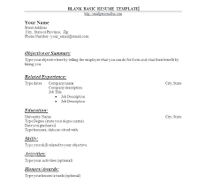 Ms Word Resume Template Free Blank Resume Templates For Word Example