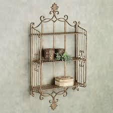 sarbazio antique gold wall shelf touch to zoom