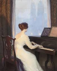william worcester churchill girl playing piano