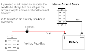 auxiliary fuse block How To Wire Fuse Box here are several options to consider how to wire fuse box diagram