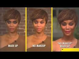 tyra banks no makeup made up look tutorial