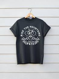 T Shirt Design Ideas Ride The Mountains Bike T Shirt Premium Bike Tee Available In 7 Colours In Sizes Sml And Xl