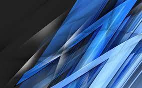 4K Wallpaper Abstract Blue Black White ...
