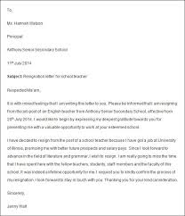 Resign Letter For Teacher New Resignation Letter Teacher Job ...
