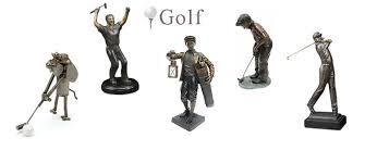 golf sculptures statues