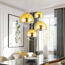 Mzithern <b>Modern</b> Mini Globe Pendant Lighting with Handblown ...