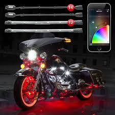 Where To Place Led Lights On Motorcycle 14 Pod 12 Strip 2nd Gen Xkchrome App Control Motorcycle Professional Led Accent Light Kit