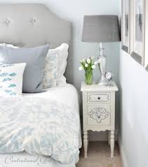 Small Bedroom Table Small Bedside Table Bedroom Traditional With Blue Headboard Small