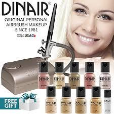 amazon dinair airbrush makeup professional natural look summer kit fair shades 10pc make up set multi purpose for foundation blush shimmer