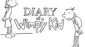 Diary Of A Wimpy Kid Coloring Pages Printable To Print Big Sheets