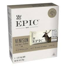 EPIC <b>Venison Sea Salt</b> & <b>Pepper</b> Nutrition Bar - 6oz 4ct : Target