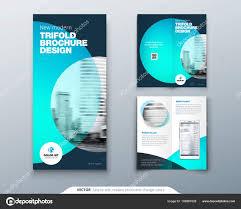Fold Flyer Tri Fold Brochure Design Teal Orange Corporate Business Template