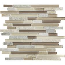 dune linear mosaic stone and glass quartz wall tile common 12 in x