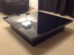 next milano black high gloss coffee table with large storage area