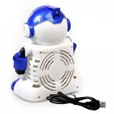 robot desktop mini fan usb