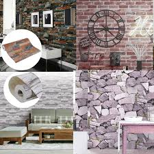 details about 10m arthouse moroccan wallpaper old rustic brick stone 3d wall slate effect uk