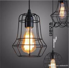 loft led industrial pendant lighting chandelier balck iron cage lampshade warehouse style vintage indoor lighting fixture bar pendant lights green pendant