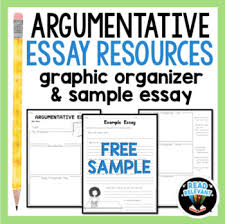 argumentative essay writing resources graphic organizer tpt argumentative essay writing resources graphic organizer