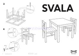 ikea tables svala children s table w 2 chairs assembly instruction