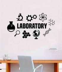 science adhesive vinyl wall text school