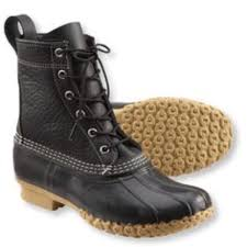 Ll Bean Rare Black Bean Boots Size 10 Run Big