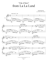 city of stars violin sheet music la la land city of stars justin hurwitz piano plateau sheet