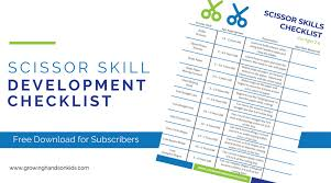 Scissor Skill Development Checklist For Ages 2 6 For
