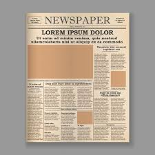 Old Fashioned Newspaper Article Template Vector Old Daily Newspaper Template Tabloid Layout Posting