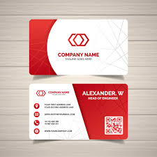 Red Design Company Red Corporate Business Card Templates Free Customize