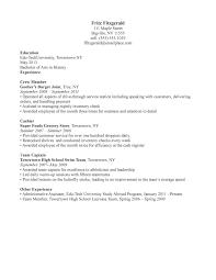 Restaurant Resume Samples Resume For Study