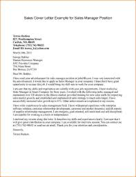 Cover Letter Example For Sales Manager Position Good Luck With