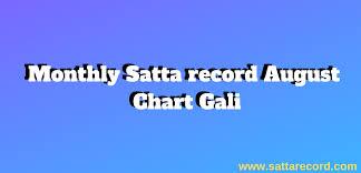 Faridabad Ka Chart Latest Monthly Satta Record August Chart Gali