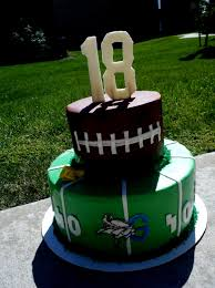 Football Cakes Ideas 18th Birthday Cake Pinterest