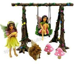 pretmanns fairy garden accessories kit miniature garden fairies fairy garden figurines swing set