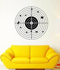 vinyl wall decal target for shooting