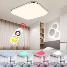 led ceiling lamp rgb dimmable multiple color modern led light 24w 36w 48w 64w 96w home