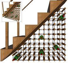 Under stairs wine rack design