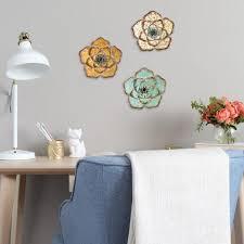 stratton home decor rustic metal flower