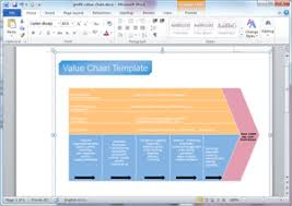 free value chain templates for word  powerpoint  pdfword value chain template